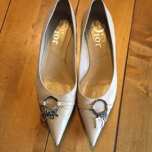 Christian Dior quilted flats